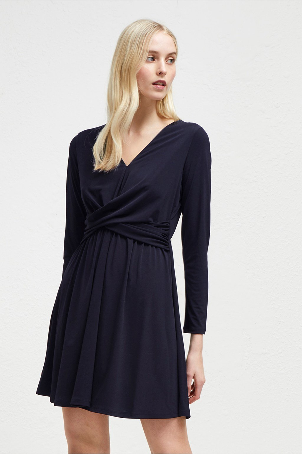 FRENCH CONNECTION - ROBE JERSEY ALEXIA CREPE