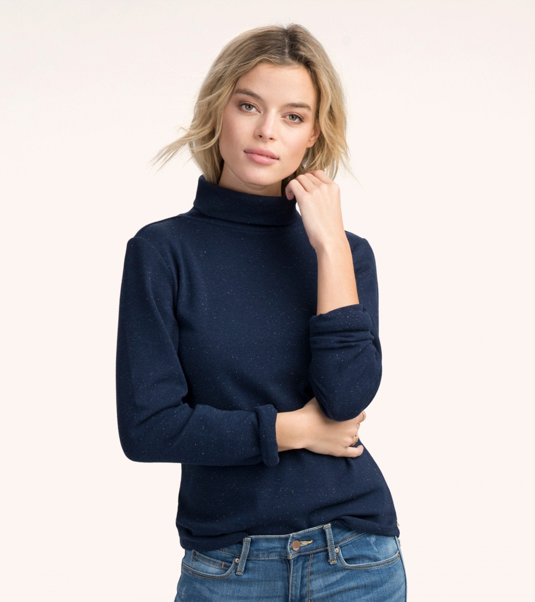HATLEY Navy Turtleneck