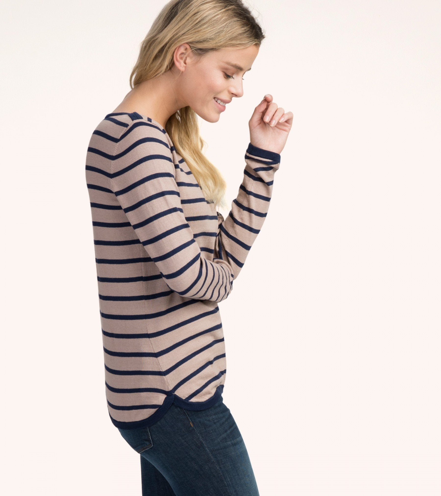 HATLEY Breton Striped Knit Shirt | Winter Long Sleeve