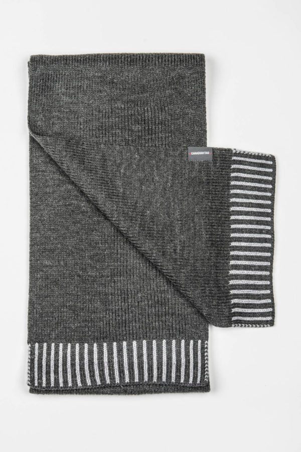 CANADIAN Yukon Scarf | Winter Knitted Wool