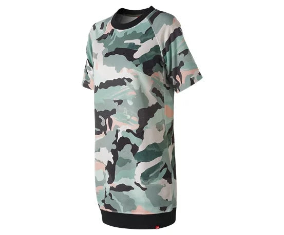 New Balance W Aqua Camo Sweat Dress