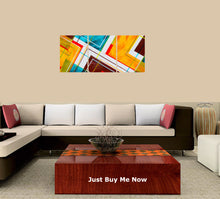 Load image into Gallery viewer, Abstract-22 3 Panels Wood N Canvas Wall Art Paintings