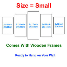 Load image into Gallery viewer, Cartoon 5 Panels Wood N Canvas Wall Art Paintings
