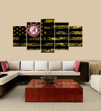 Load image into Gallery viewer, Alabama Crimson Tide logo 5 Panels Wood N Canvas Wall Art Paintings