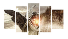 Load image into Gallery viewer, Angel Girl Wings 5 Panels Wood N Canvas Wall Art Paintings