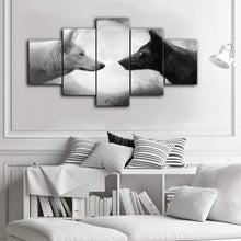 Load image into Gallery viewer, Animal Wolves 5 Panels Wood N Canvas Wall Art Paintings
