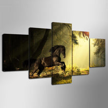 Load image into Gallery viewer, Athletic Horse 5 Panels Wood N Canvas Wall Art Paintings