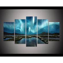 Load image into Gallery viewer, Aurora Borealis 5 Panels Wood N Canvas Wall Art Paintings