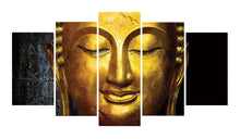 Load image into Gallery viewer, Awakened Buddha 5 Panels Wood N Canvas Wall Art Paintings