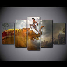 Load image into Gallery viewer, Bahubali 5 Panels Wood N Canvas Wall Art Paintings