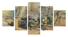 Load image into Gallery viewer, Battles star 5 Panel Wall Art Canvas Painting 5 Panels Wood N Canvas Wall Art Paintings