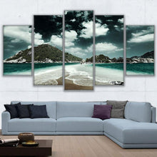 Load image into Gallery viewer, Beach Day 5 Panels Wood N Canvas Wall Art Paintings