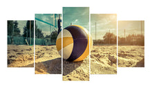 Load image into Gallery viewer, Beach Volley 5 Panels Wood N Canvas Wall Art Paintings