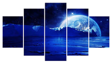 Load image into Gallery viewer, Beautiful Planets 5 Panels Wood N Canvas Wall Art Paintings