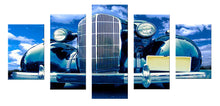 Load image into Gallery viewer, Black Car 5 Panels Wood N Canvas Wall Art Paintings