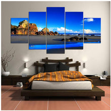 Load image into Gallery viewer, Blue sky landscape 5 Panels Wood N Canvas Wall Art Paintings