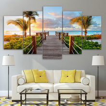 Load image into Gallery viewer, Boardwalk to Paradise 5 Panels Wood N Canvas Wall Art Paintings
