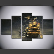 Load image into Gallery viewer, Boat 5 Panels Wood N Canvas Wall Art Paintings