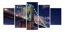 Load image into Gallery viewer, Brooklyn Bridge 5 Panels Wood N Canvas Wall Art Paintings