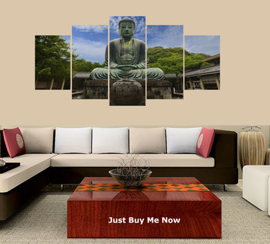 Buddha-4 5 Panels Wood N Canvas Wall Art Paintings