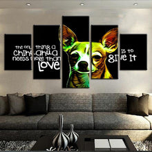 Load image into Gallery viewer, Chihuahua Love 5 Panels Wood N Canvas Wall Art Paintings