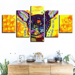 Chihuahua Thief 5 Panels Wood N Canvas Wall Art Paintings