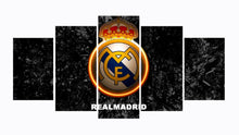 Load image into Gallery viewer, C Ronaldo Real Madrid 5 Panels Wood N Canvas Wall Art Paintings