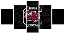 Load image into Gallery viewer, Carolina Gamecocks Sports 5 Panels Wood N Canvas Wall Art Paintings