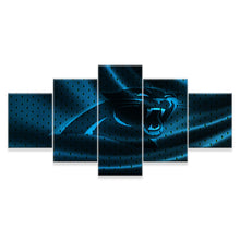 Load image into Gallery viewer, Carolina Panthers 5 Panels Wood N Canvas Wall Art Paintings