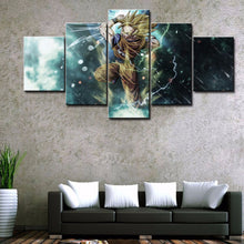 Load image into Gallery viewer, Cartoon Dragon Ball 5 Panels Wood N Canvas Wall Art Paintings