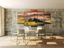Load image into Gallery viewer, Castle Pastoral 5 Panels Wood N Canvas Wall Art Paintings