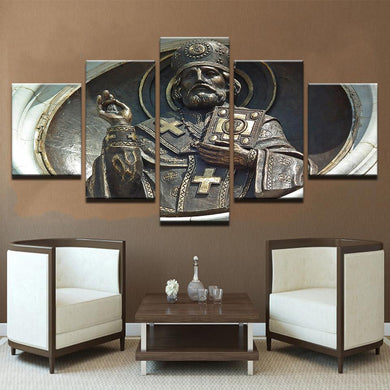 Cathedral Of Jesus Christ 5 Panels Wood N Canvas Wall Art Paintings