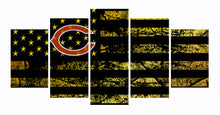 Load image into Gallery viewer, Chicago Bears logo 5 Panels Wood N Canvas Wall Art Paintings