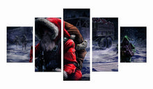 Load image into Gallery viewer, Christmas Santa Claus 5 Panels Wood N Canvas Wall Art Paintings