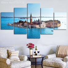 Load image into Gallery viewer, Church 5 Panel Wall Art Canvas Painting