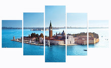 Load image into Gallery viewer, Church Of San Giorgio Maggiore 5 Panels Wood N Canvas Wall Art Paintings