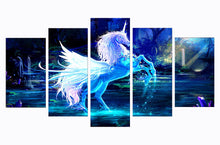 Load image into Gallery viewer, Colorful Horse Kids 5 Panels Wood N Canvas Wall Art Paintings