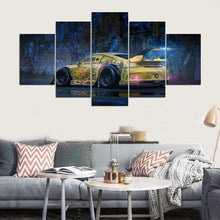 Load image into Gallery viewer, Cool Sport car 5 Panels Wood N Canvas Wall Art Paintings