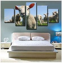 Load image into Gallery viewer, Cute Little Sheep Animals Cartoon 5 Panel Wall Art Canvas Painting 5 Panels Wood N Canvas Wall Art Paintings