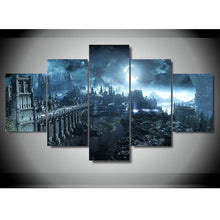 Load image into Gallery viewer, Dark Soul 5 Panels Wood N Canvas Wall Art Paintings