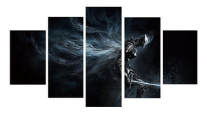 Dark Souls 5 Panels Wood N Canvas Wall Art Paintings