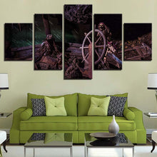 Load image into Gallery viewer, Dead Men Art 5 Panels Wood N Canvas Wall Art Paintings