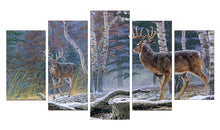 Load image into Gallery viewer, Deer-3 5 Panels Wood N Canvas Wall Art Paintings
