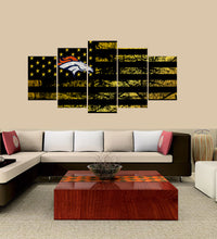 Load image into Gallery viewer, Denver Broncos logo 5 Panels Wood N Canvas Wall Art Paintings