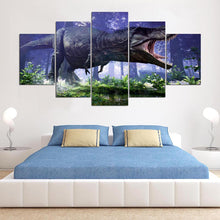 Load image into Gallery viewer, Dinosaur 5 Panels Wood N Canvas Wall Art Paintings