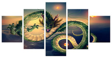 Load image into Gallery viewer, Dragon-2 5 Panels Wood N Canvas Wall Art Paintings