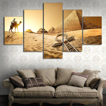 Load image into Gallery viewer, Egyptian Pyramids 5 Panels Wood N Canvas Wall Art Paintings