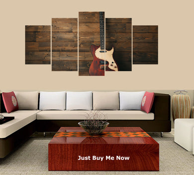 Electric Guitar on Wood