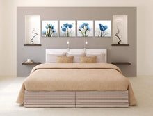 Load image into Gallery viewer, Elegant Tulip Flower 4 Panels Wood N Canvas Wall Art Paintings