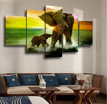 Load image into Gallery viewer, Elephant Sunrise